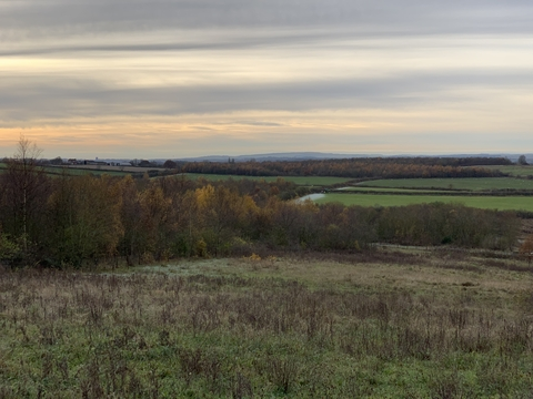 View of rainton meadows in autumn