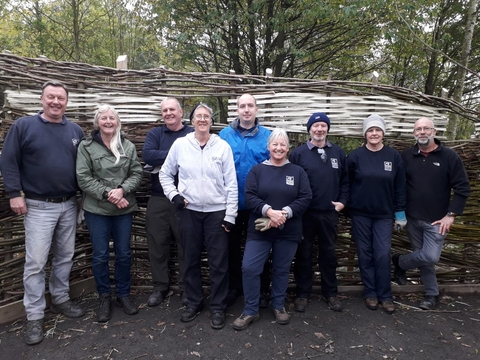 Volunteers building Rainton Meadow bird hide