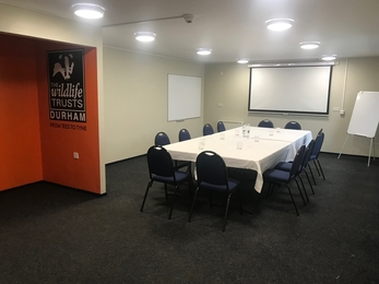 Bellamy meeting room set up for conference