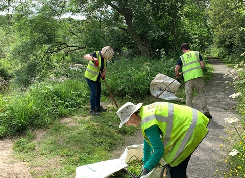 Volunteers at Low Barns Nature Reserve